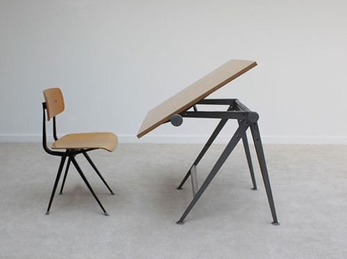 drawing board table and chairs art studios industrial design furniture