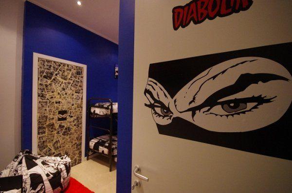 Comics Guesthouse è un ostello a tema a Roma dove le stanze sono dedicate a eroi dei fumetti e personaggi dei videogiochi.