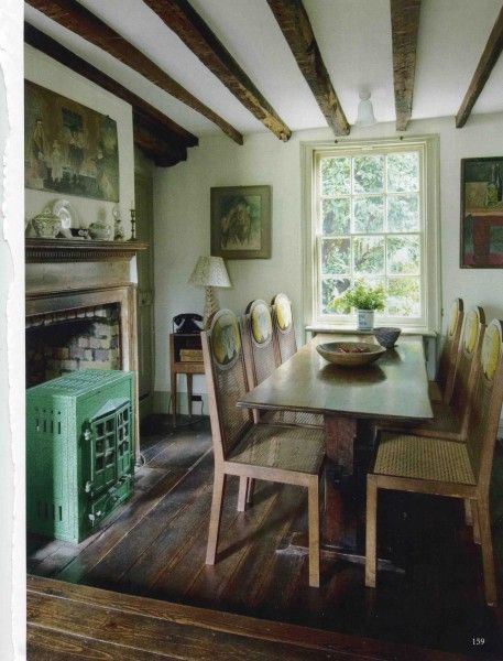 Virginia and Leonard Woolf's dining room at Monk's House