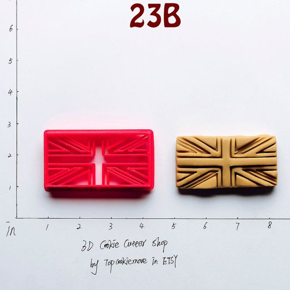 Union jack Cookie Cutter union jack Party union by TopCookieMore