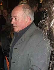 Tim Healy playing Dennis Patterson in the television series Auf Wiedersehen, Pet, and Les/Lesley in the ITV comedy-drama series Benidorm.