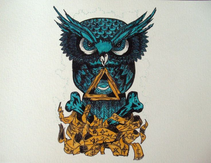 illuminati owl drawing - photo #23