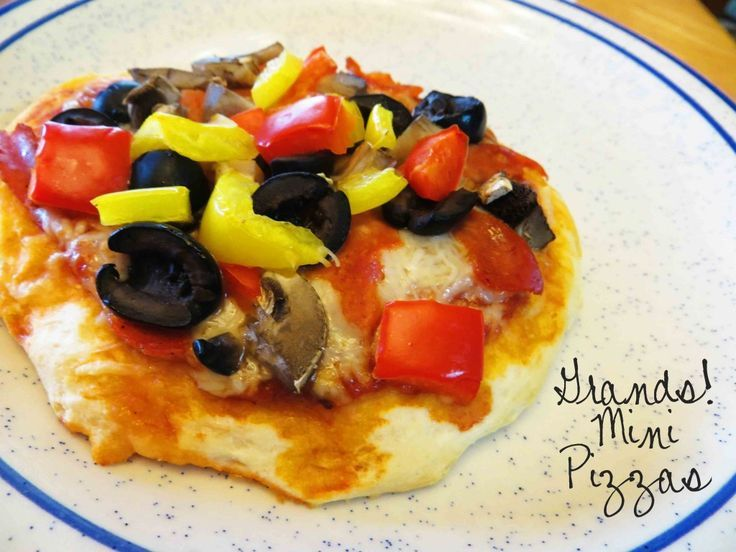 Grands Mini Pizzas #Recipe --so simple and quick and kids love to personalize their own personal pizzas!