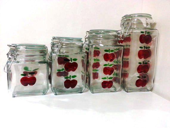 755 best apple decor images on jars decorated