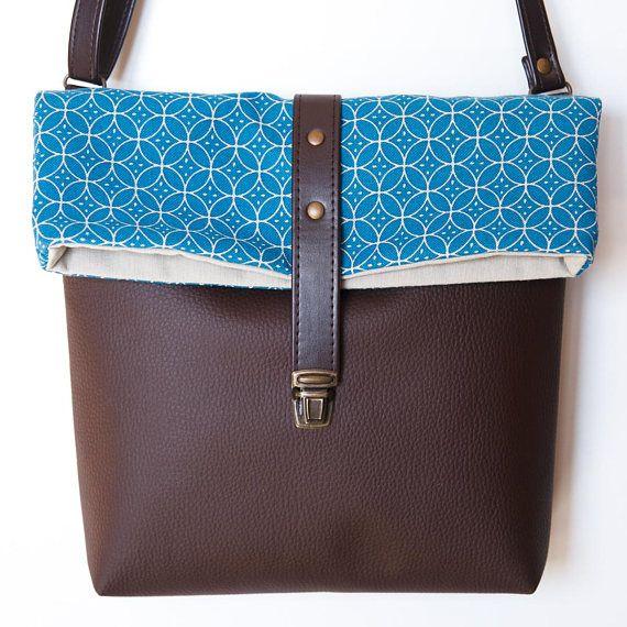 Crossbody bag vegan bag brown bag crossbody purse fake
