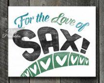 Saxophone Print - INSTANT DOWNLOAD Saxophone Art - Vintage Saxophone Poster - Sax Wall Art - Saxophone Gifts - Retro Saxophone Music Decor