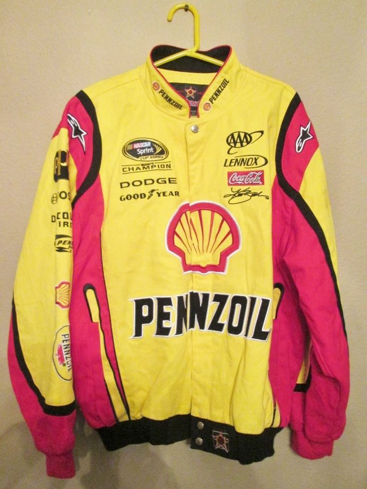 Kurt Busch Pennsoil Nascar Jacket J H Designs Adult Large Outerwear Nwt Penske Jhdesigns Jackets