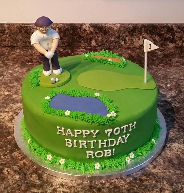 Golfer Birthday Cake - Cake by Cakes By Kris