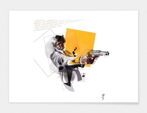"Curioos.com   ""pulp fiction"" by yoaz  - Gallery Quality Art Print"
