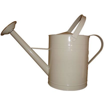 Galvanised Watering Can - Cream - 8L at Homebase -- Be inspired and make your house a home. Buy now.