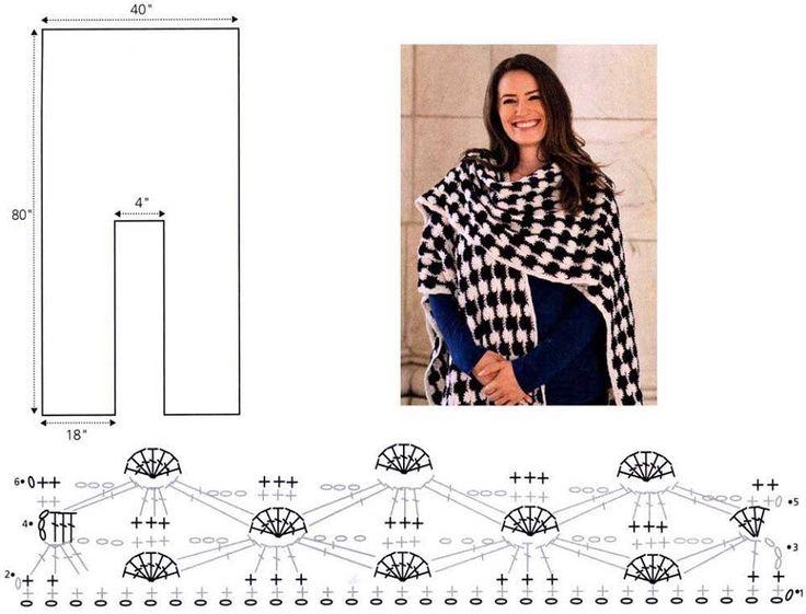 Mejores 284 imágenes de crochet(2) en Pinterest   Bufandas, Bufandas ...