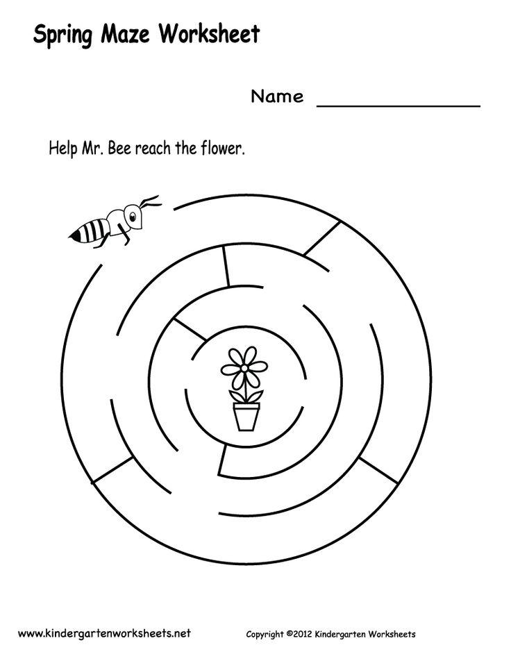 Spring Maze Worksheet Printable Png 800 1035 Printable
