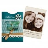 PHOTO POCKET CARDS!!!! - an awesome hybrid of handmade cards and printable photo cards you make at the online Walmart photo lab. You get the ease and beauty of digital photo cards, but the special homemade touch of the photo pocket. Make it simple - a red pocket with a gold ribbon, or a blue card with a silver ribbon, etc. I have the 5x7 and 4x6 sizes, and have the 4x8 pocket on order, available by Dec 12.