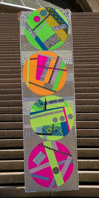 Neon Bouncy by Rachel Daisy | Blue Mountain Daisy: My Other Ribbon!! & Show Quilts