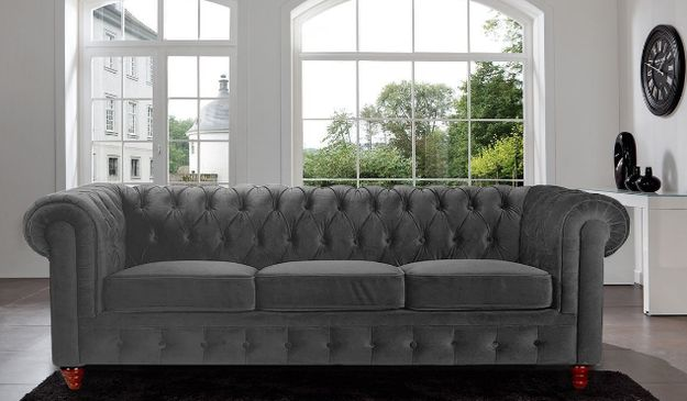 This velvet scroll arm sofa that creates a classic and sophisticated look.