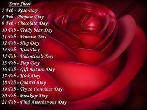 Valentine Week List 2018 Dates Days Timetable Calendar Schedule
