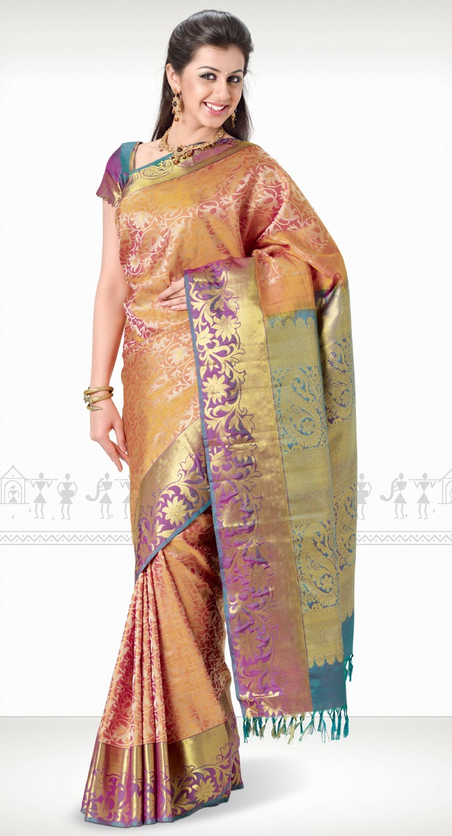 Chethana Kanchipuram Saree http://www.harinisilks.com/chethana-kanchipuram-saree.html