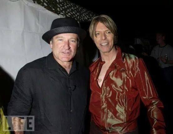 David Bowie and Robin Williams