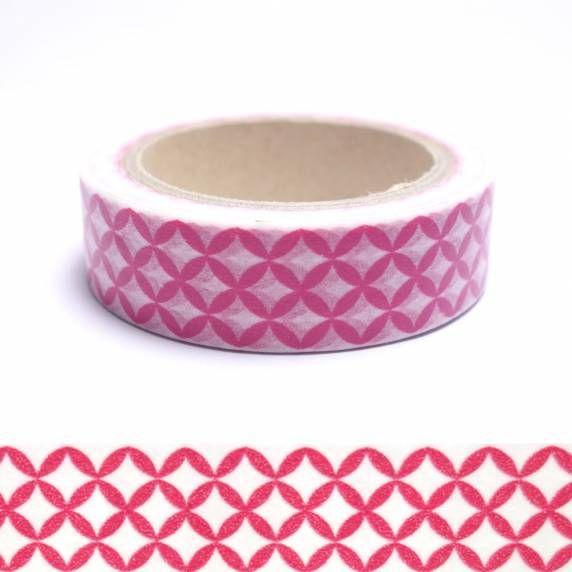 Masking tape motif japonais rose fushia