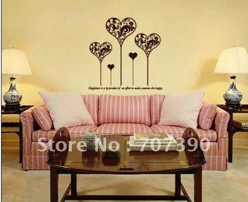 wholesale Wall sticker Wall decor Home decor Mural ART Decal Decoration Vinyl Romantic Heart A03
