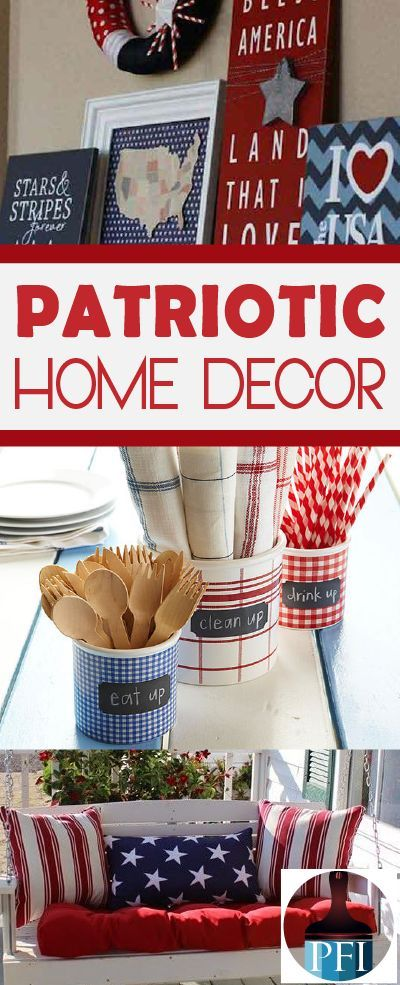 Whether it is a Memorial Day picnic, a 4th of July party or a Labor Day barbecue we have you covered with these 10 patriotic home decor ideas this summer!