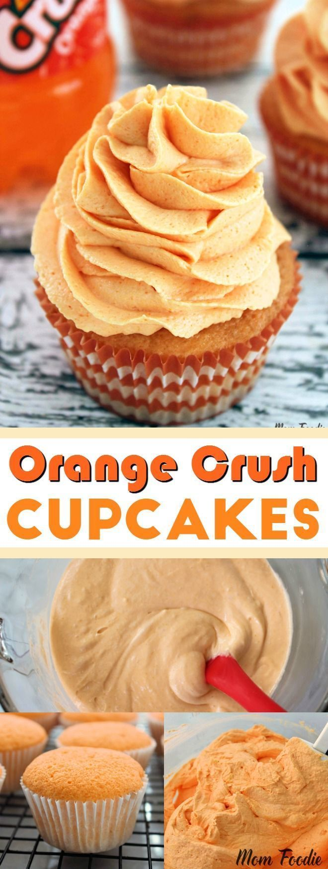 Orange Crush Cupcakes - fun cupcakes made with Orange Crush soda!