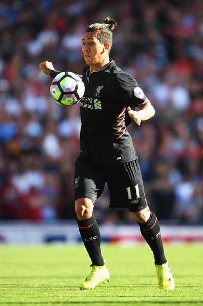 Roberto Firmino of Liverpool in action during the Premier League match between…