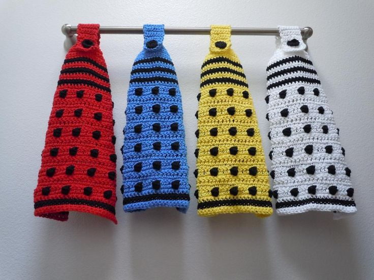 Dalek Hanging Towel by Critical Stitch | Crocheting Pattern