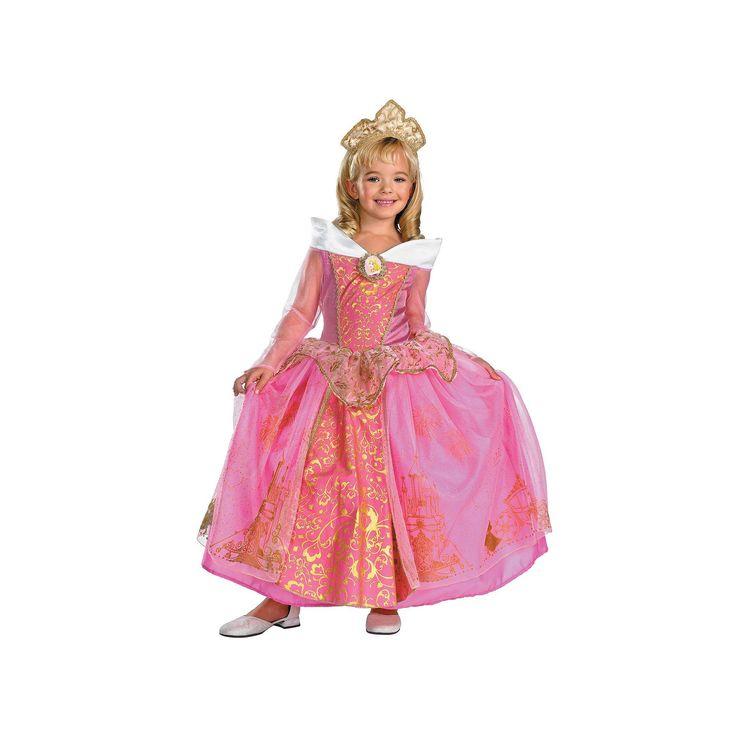 Disney Princess Aurora Costume, Girl's, Size: 4-6X, Multicolor, Durable