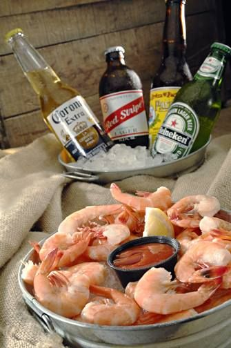 Ice Cold Beer and Steamed or Chilled Peel-n-Eat Shrimp at The Hurricane Bar!* #Theblackmarlin