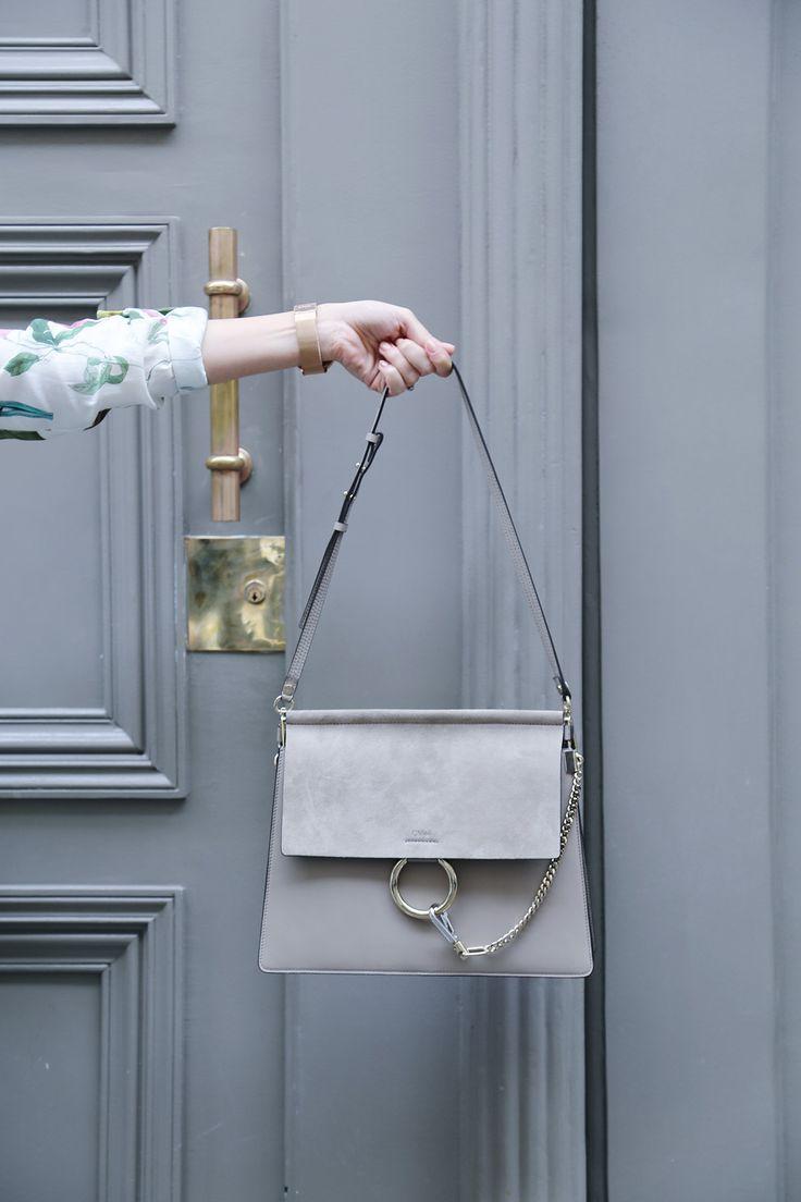 CHLOÉ - Faye Suede & Leather Shoulder Bag - Motty Grey - $1,950