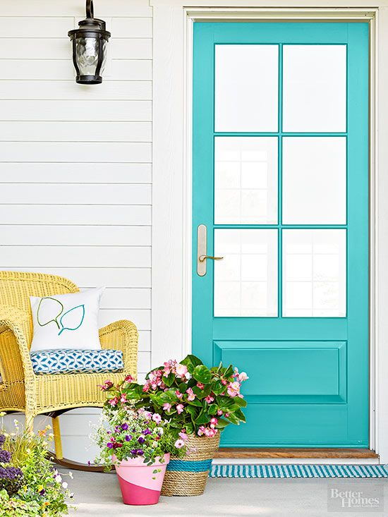 Boost your home's curb appeal with these colorful DIY entry projects. We're sharing our favorite front door paint color, welcome mat, planters and more to inspire your next patio or porch makeover project.