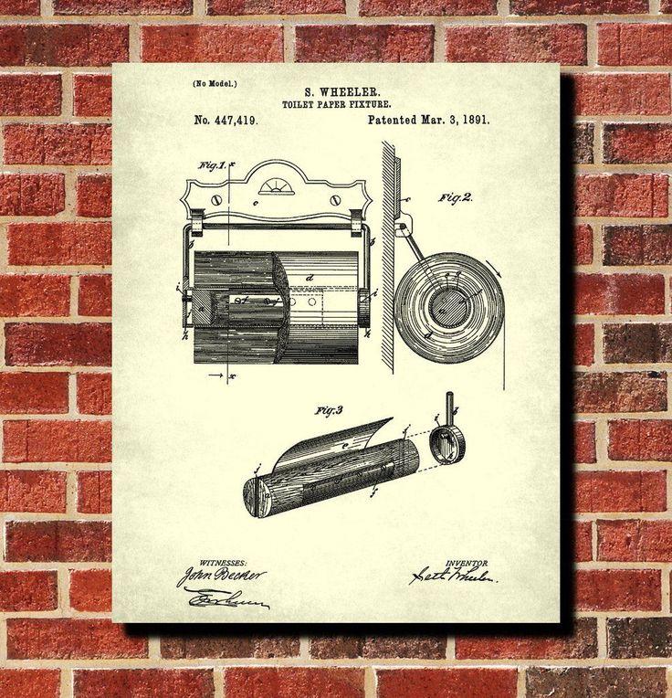 Bathroom Art Size: 58 Best Bathroom Patent Prints Images On Pinterest