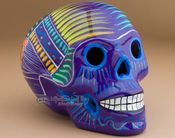 """Mexican Day Of The Dead Skull 6.5"""" -Purple (s9)"""