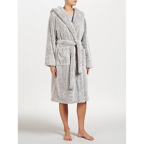Looking for something similar: John Lewis High Pile Fleece Robe, Grey Online at johnlewis.com
