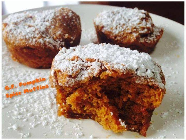 Gluten Free Pumpkin Spice Muffins ~ Yumm!!  Recipe here:  https://www.facebook.com/skinnyfiberwithsherry/photos/a.763685686991117.1073741828.763648590328160/980292065330477/?type=1&theater