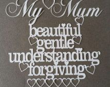My mum definition DIY papercutting template Mother's Day
