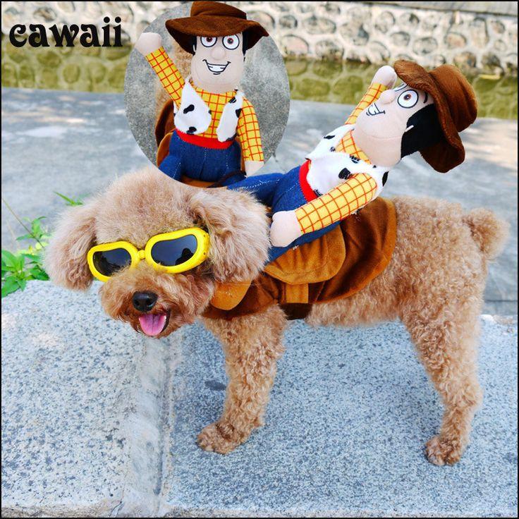 Pas cher Drôle Équitation Cheval chien cowboy costume vêtements pour Chihuahua Yorkshire petit chien pet chat Halloween Party custome vêtements, Acheter  Dog Coats & Jackets de qualité directement des fournisseurs de Chine:   Weclome