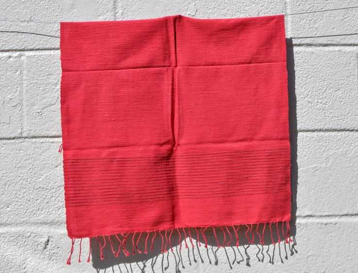 Red and Brown Striped Cotton Hand Towel from Ethiopia by GoodSurplus on Etsy https://www.etsy.com/listing/564196411/red-and-brown-striped-cotton-hand-towel