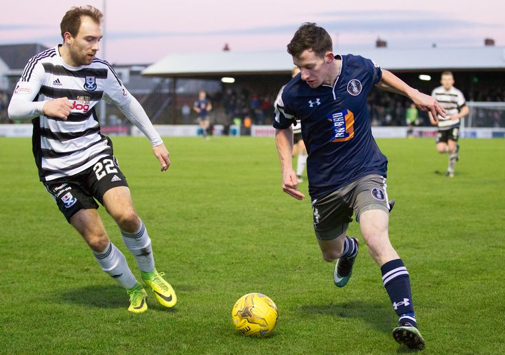 Queen's Park's David Galt in action during the Scottish Cup round 4 game between Ayr United and Queen's Park.