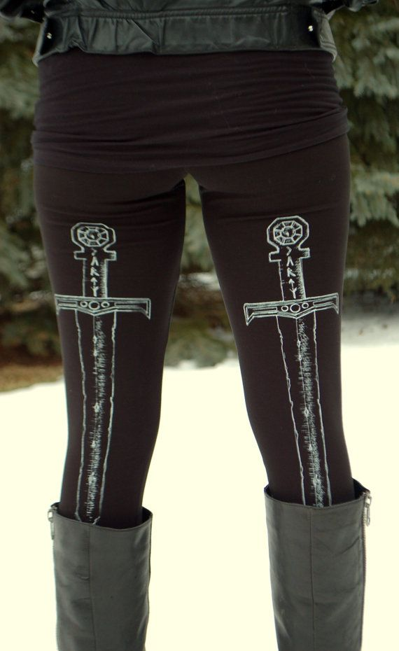 Sword Leggings by SOVRIN on Etsy