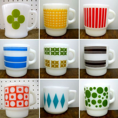 pyrex mugs.  .....................................Please save this pin.   ............................................................. Click on this link!.. http://www.ebay.com/usr/prestige_online