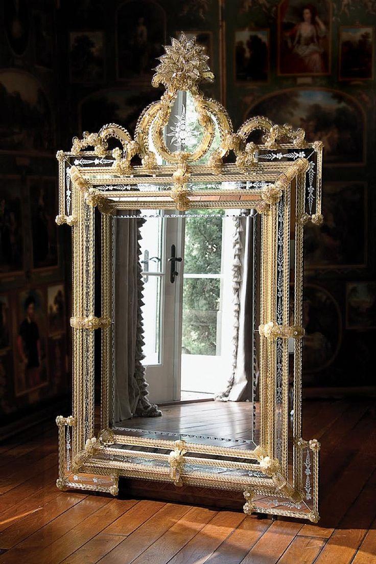 Antiqued mirror wall mirrors and mediterranean style mirrors - Sommerset Mirror By Ebanista Fancy Mirrorsantique Mirrorswall