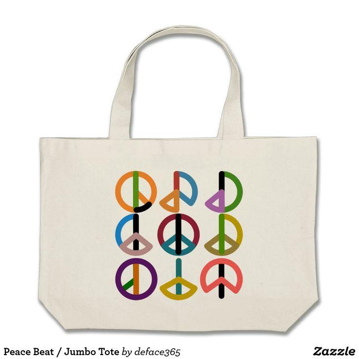 Peace Beat / Jumbo Tote