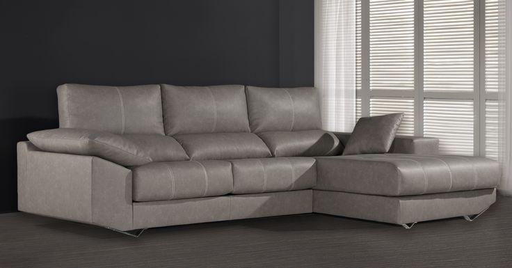 Sofá chaiselongue Greco en oferta. Gamamobel es una fábrica Española con sofás de gran calidad y a un precio alucinante.