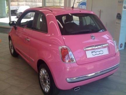 Pink Fiat 500... my next car!
