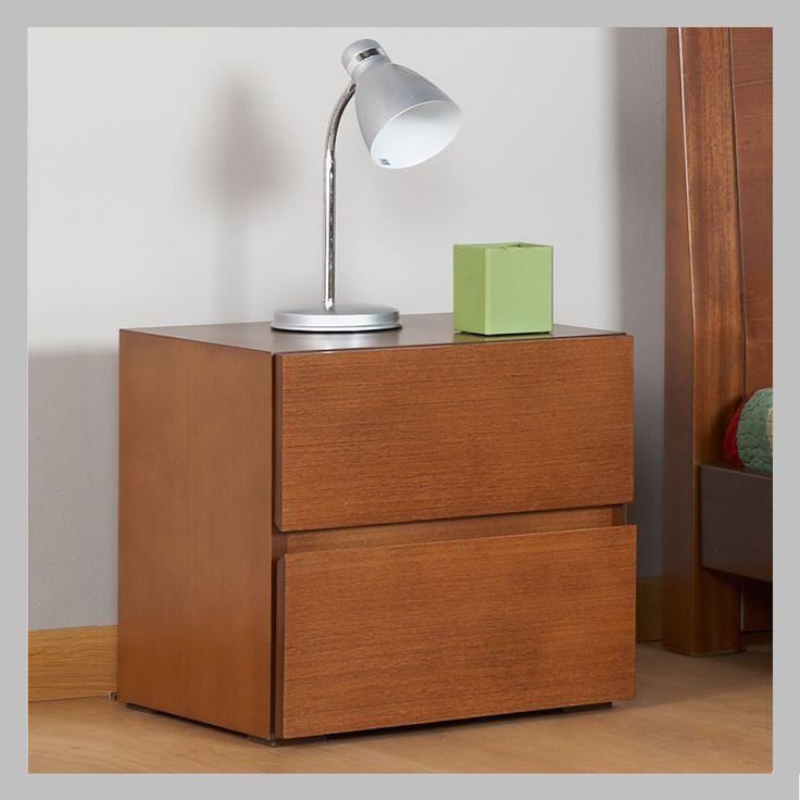 MESA DE NOCHE CUADRADA MNM-07 Esta mesa de noche viene con un diseño muy moderno cuadrado con dos cajones sin manija lo que la hace más contemporánea. Este modelo tiene un terminado de madera color clásica pero puede escoger variedad de tonalidades dentro de nuestra tabla de colores.