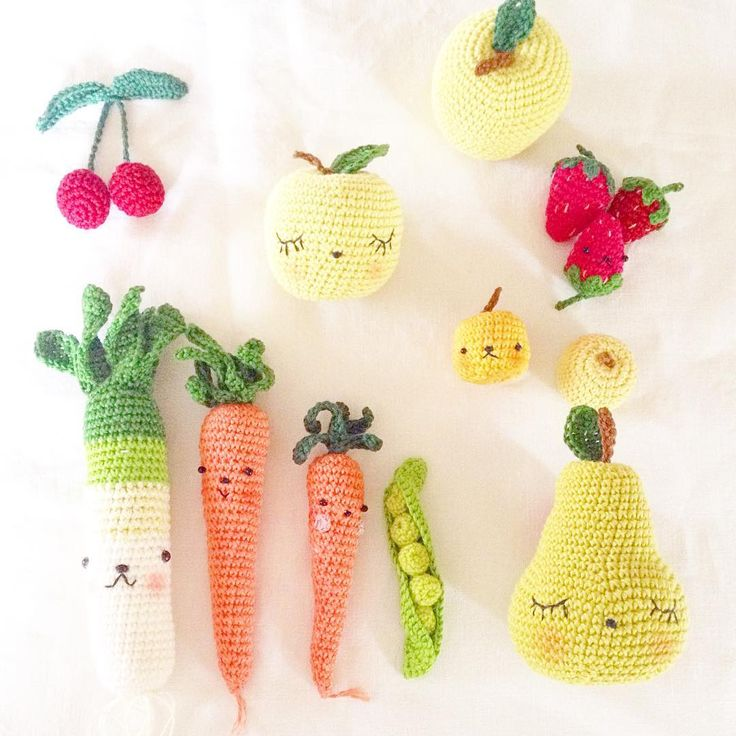 Amigurumi Fruits Et Legumes : 17 Best images about Idees Pelotes & Bobines ?? ~ on ...