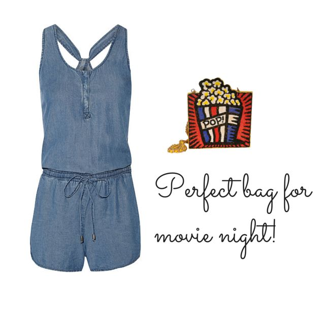 What to wear to the movies? We have the perfect popcorn bag! www.cazabrand.com #bags #movies #popcorn #beads