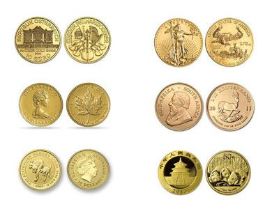 1/10 Ounce Gold Coin, 999.9 fine, Brand and Year of our Choice